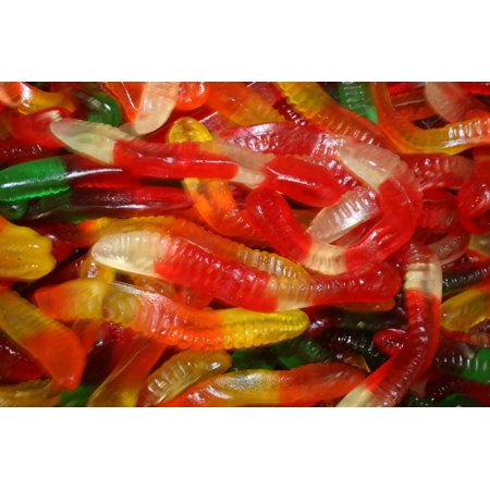BAYSIDE CANDY GUMMY WORMS BLACK FOREST, 1LB