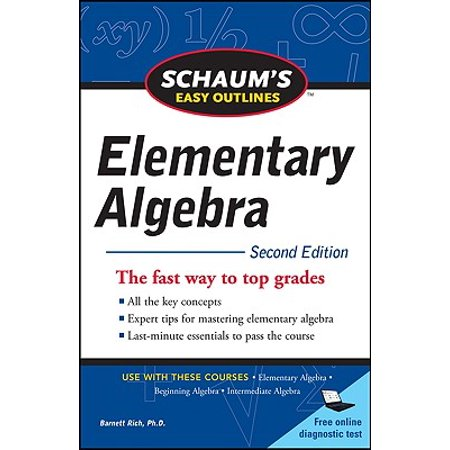 Schaum's Easy Outline of Elementary Algebra, Second Edition](Halloween Online Games For Elementary Students)