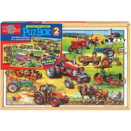 American Girl Frame Puzzle (T.S. Shure American Tractors Jumbo Wooden Puzzles in a Wooden Box, 2 Puzzles )