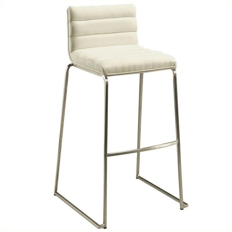 "Pastel Furniture Dominica 26.5"" Counter Bar Stool in Ivory (set of 4) by Pastel Furniture"