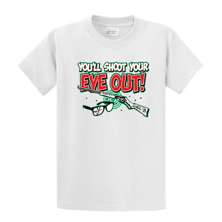 Funny T-Shirt You'll Shoot Your Eye Out - Baby Eyes Brown Halloween Contact Lenses