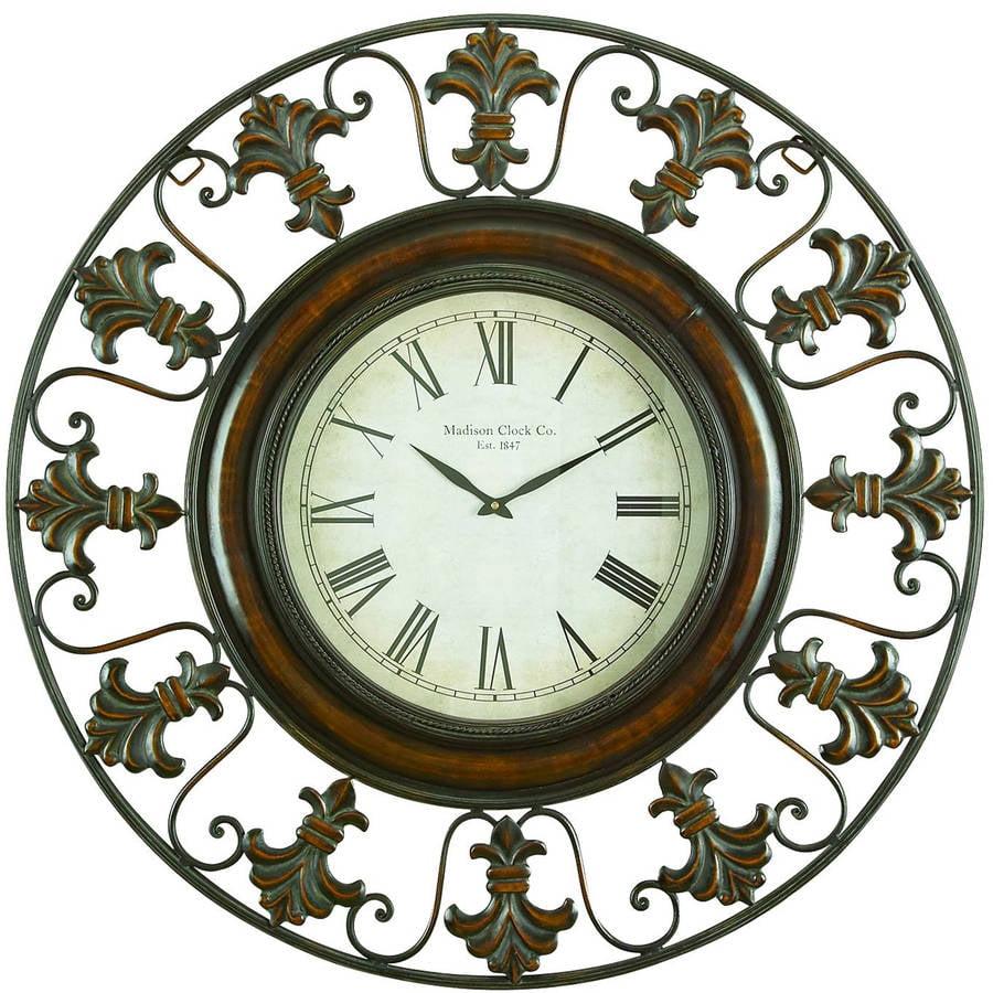 Decmode Metal Wall Clock, Multi Color