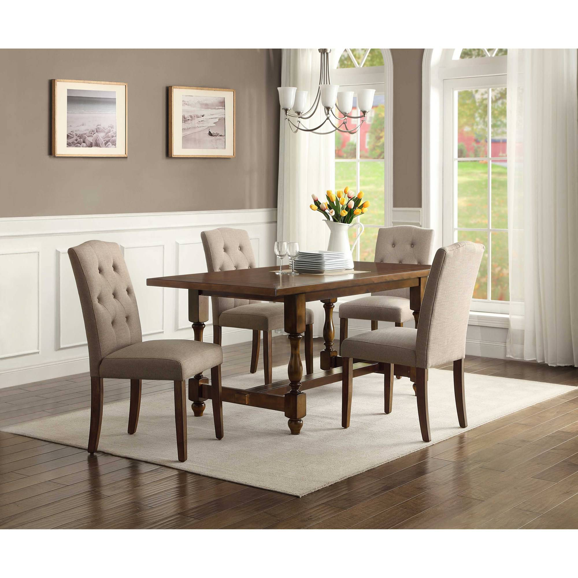 Better Homes And Gardens Providence 5 Piece Dining Set, Brown   Walmart.com