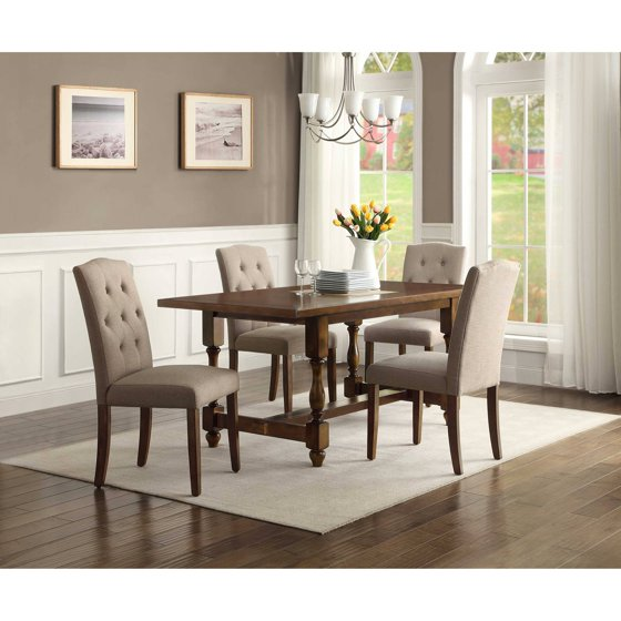 Better Homes and Gardens Providence 5-Piece Dining Set, Brown ...