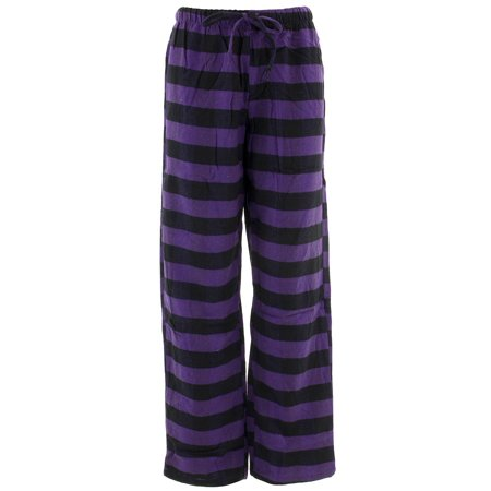 Inteco Intimates Women's Purple Black Striped Flannel Pajama Pants