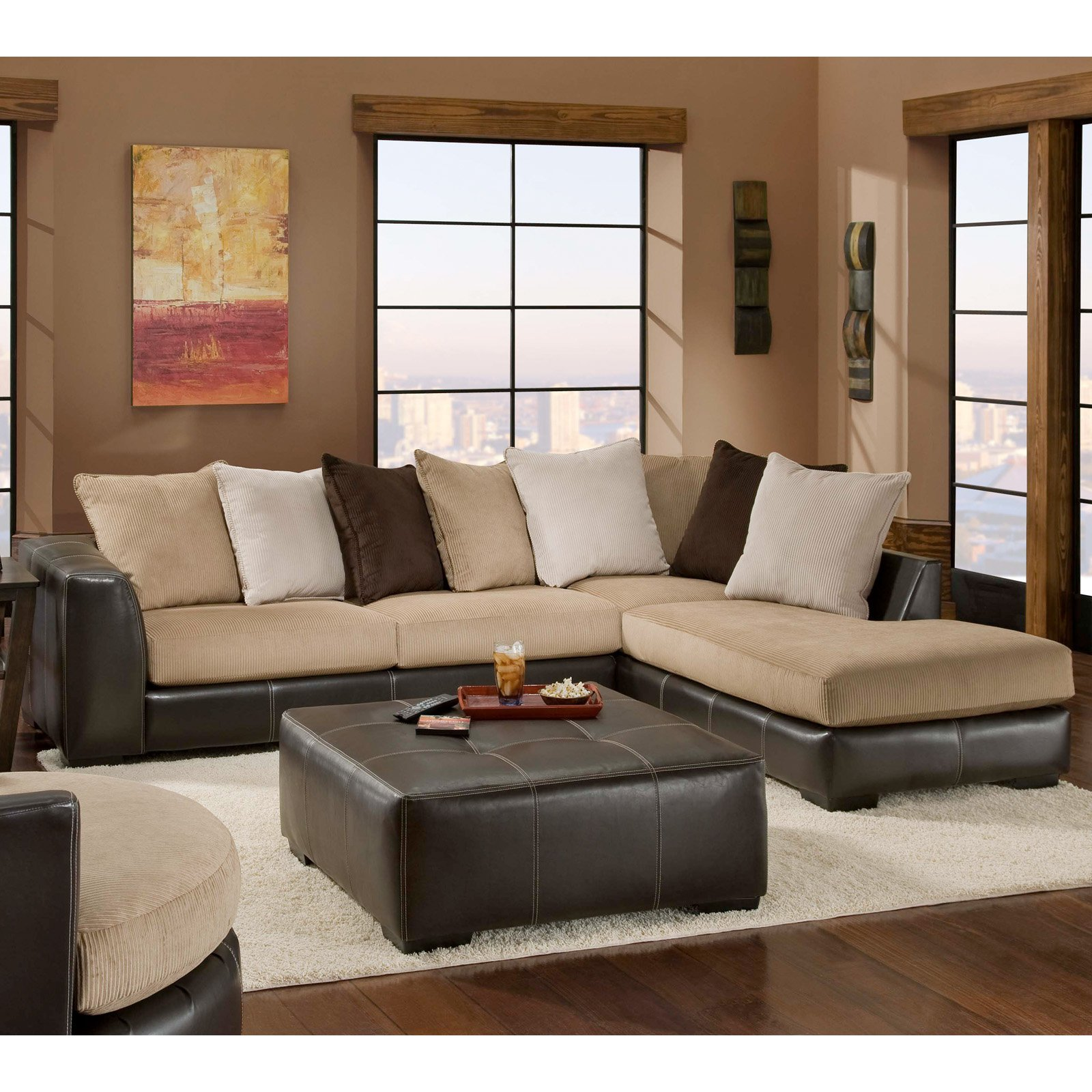 Delightful Chelsea Home Amherst 2 Piece Sectional Sofa