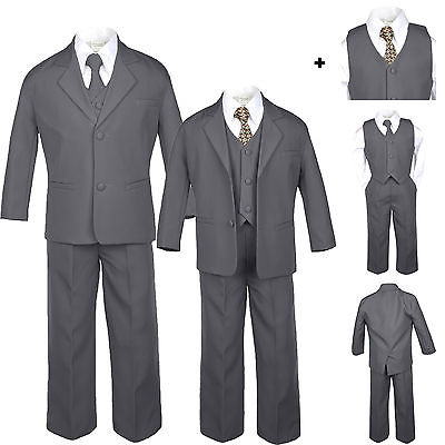 Baby Toddler Boy Wedding Formal Party Graduation Black Tuxedo Suit S M L XL 20