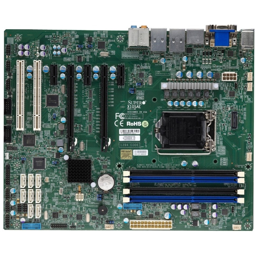 Supermicro X10sae Server Motherboard - Intel C226 Chipset - Socket H3 Lga-1150 - Bulk Pack - Atx - 1 X Processor Support - 32 Gb Ddr3 Sdram Maximum Ram - Serial Ata/600 Raid Supported (138820)