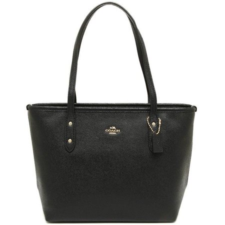 Coach - NEW WOMENS COACH (F22967) MINI CITY ZIP TOTE BLACK CROSSGRAIN  LEATHER HANDBAG - Walmart.com 46b8c0e682