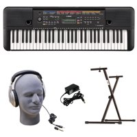Yamaha PSR-E263 PKY 61-Key Keyboard Pack with Headphones, Power Supply, & Secure Bolt-On Stand