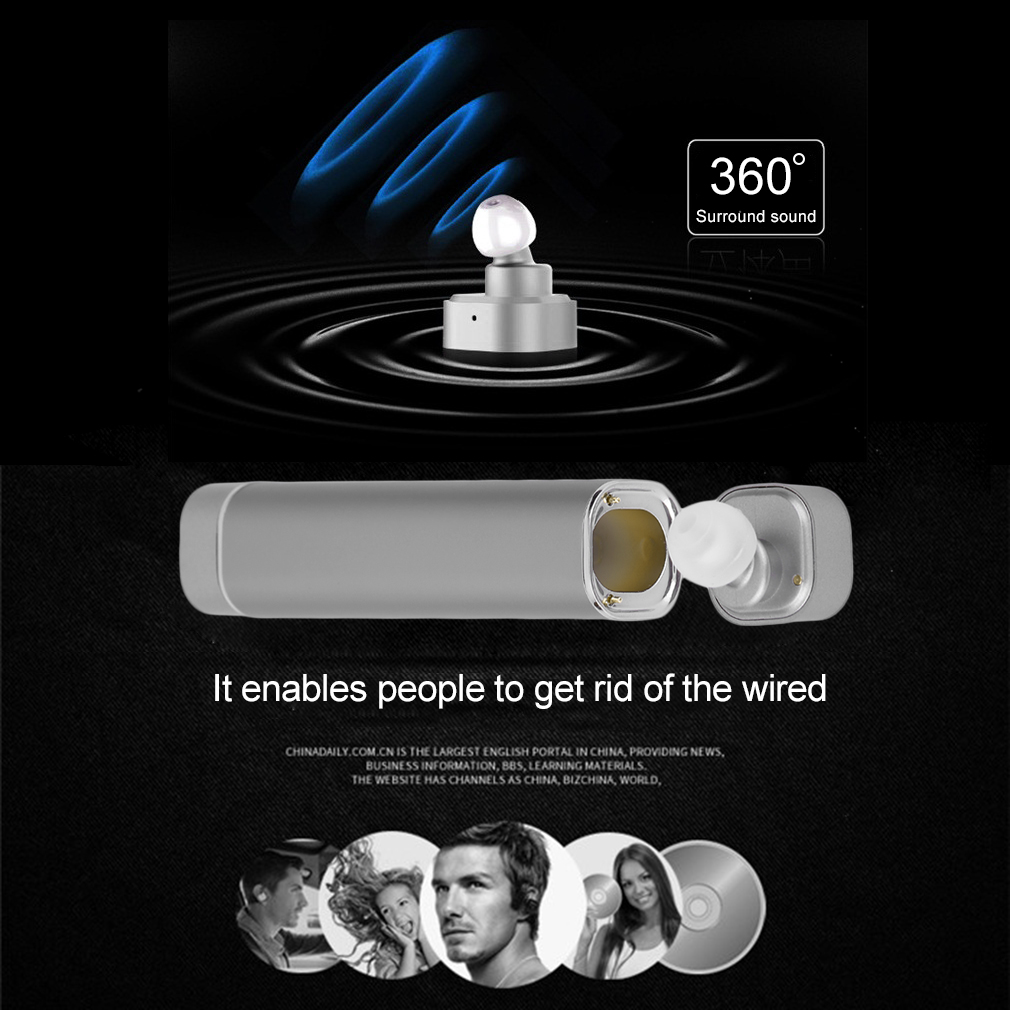 2 In1 Wireless V4.1 Super Stereo Bass Earphone Convenient Noise Cancelling Wireless Earbuds For Smart Phone