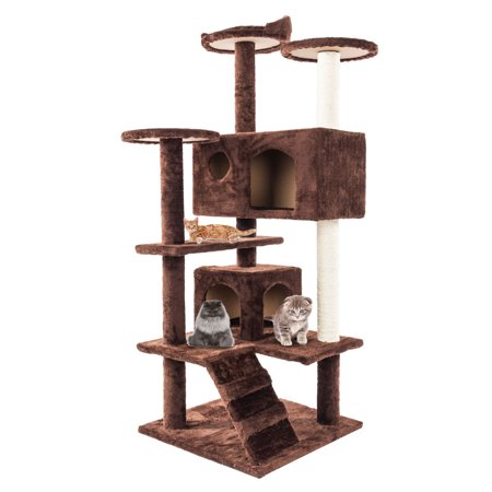 ktaxon 52 cat tree tower condo furniture scratch post. Black Bedroom Furniture Sets. Home Design Ideas