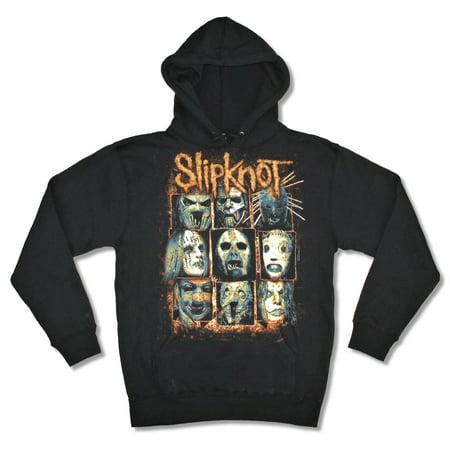 Slipknot Masks Black Sweatshirt Hoodie](Maggot Mask Slipknot)
