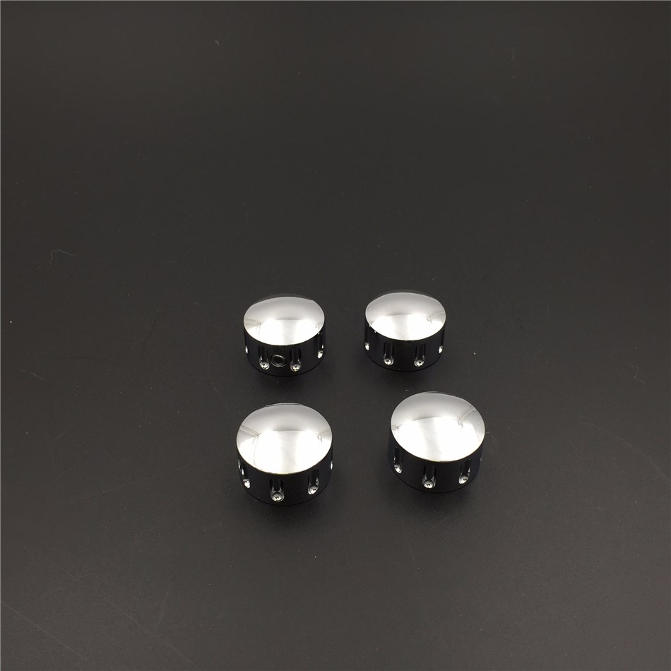 Chrome Grooved Bolts Toppers Caps Fit Harley Twin Cam Dyna Softail Road King FLH