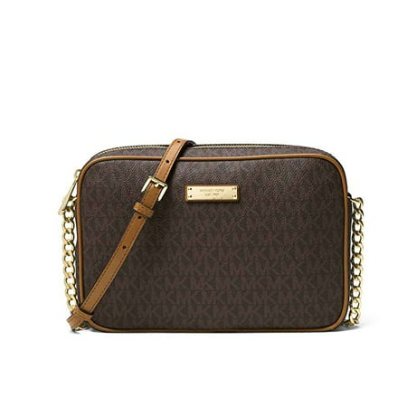 6f26451cd5c1 Michael Kors - Jet Set Medium Logo Crossbody - Brown - 32S7GJSC8B-200 -  Walmart.com