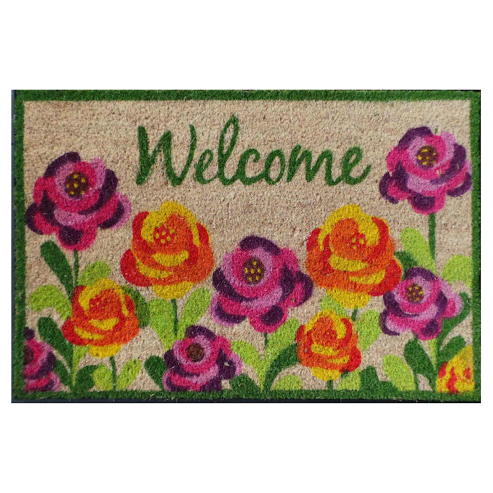 First Impression Welcome Roses Outdoor Doormat
