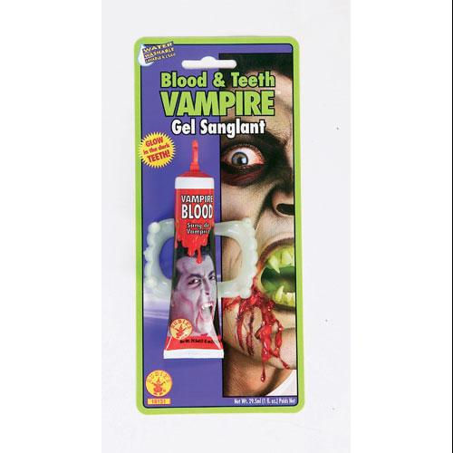 Vampire Blood and Teeth Halloween Costume Accessories