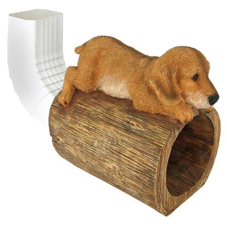 (Design Toscano Golden Retriever Puppy Dog Gutter Guardian Downspout Statue)