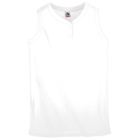 Augusta Sportswear Girls' SLEEVELESS TWO-BUTTON SOFTBALL JERSEY 551