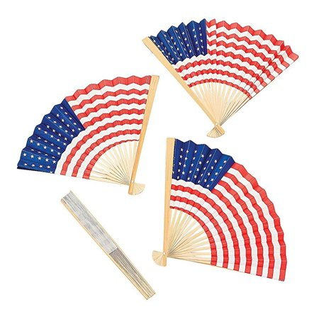 12 usa flag fans - party and - Party City Usa