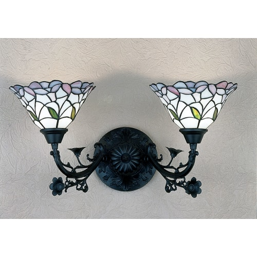"Meyda Tiffany 27391 Daffodil Bell 2 Light 22"" Wide Bathroom Vanity Light with Ti by Meyda Tiffany"
