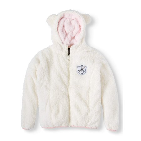 Beverly Hills Polo Club Fluffy Fleece Hoodie With 3D Ears (Little Girls & Big Girls)