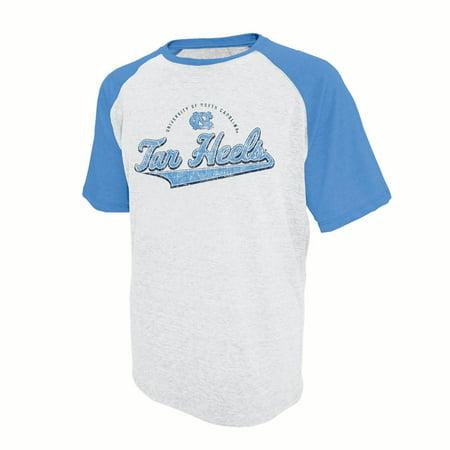 Tar Heels Athletics - Men's Russell White North Carolina Tar Heels Athletic Fit Distressed T-Shirt