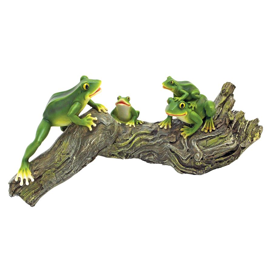 Froggy Business Garden Statue by Design Toscano