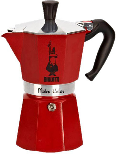 Bialetti Red 6 Cup Moka Express Stovetop Espresso Maker 06905 by Bialetti