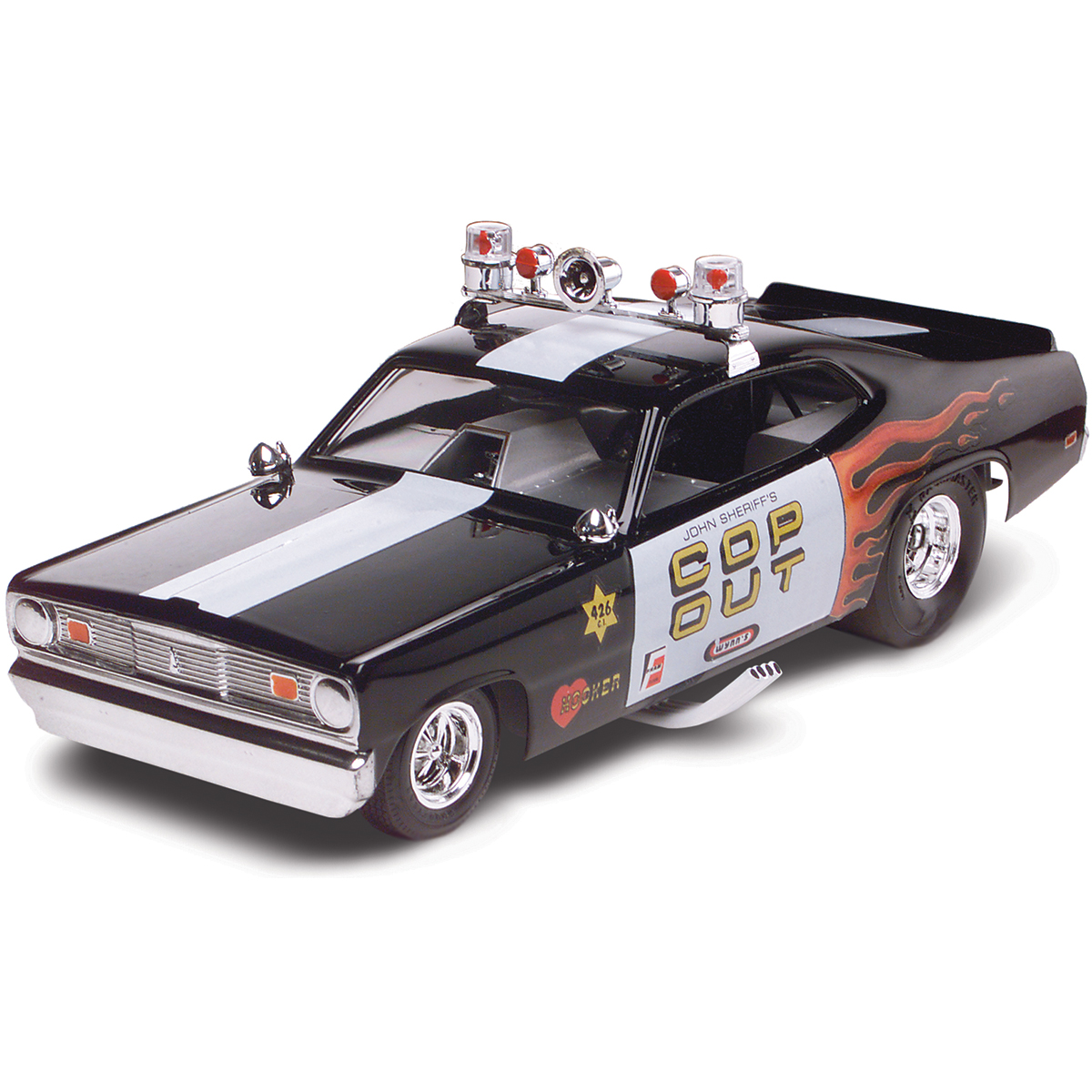 Plastic Model Kit-Plymouth Duster Cop Out Car 1:24