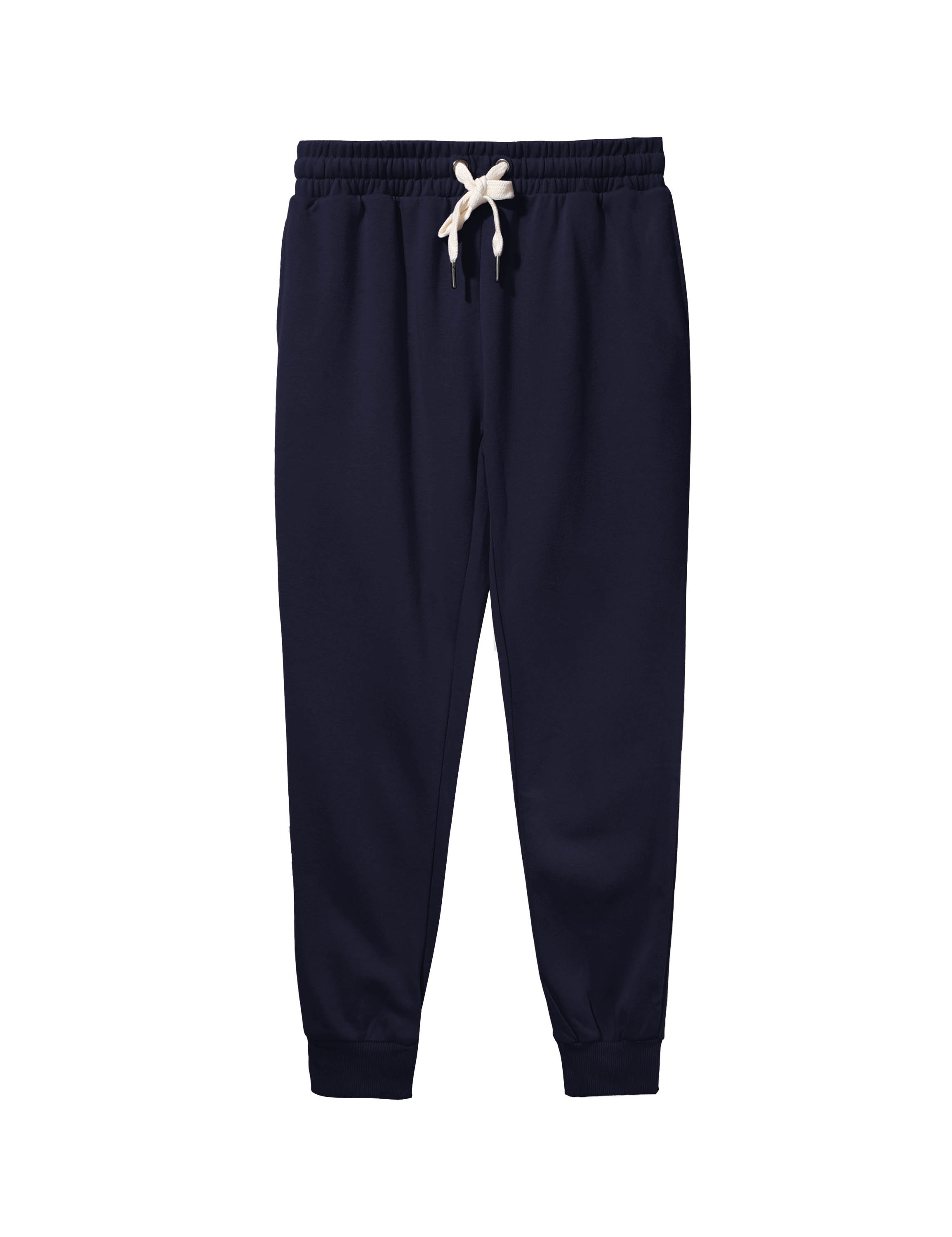 Womens French Terry Cropped Joggers with Pockets Cotton Fleece Active Sweatpants