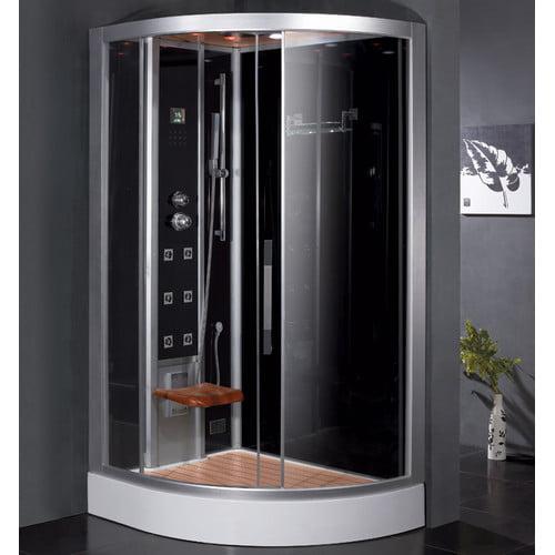 Ariel Bath Platinum 47.7'' x 35.4'' x 89'' Pivot Door Ste...