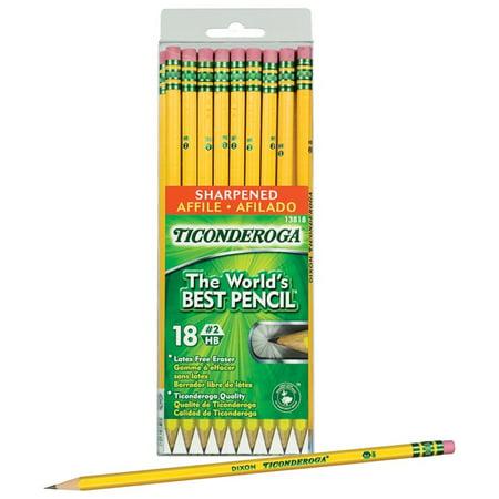 Dixon Ticonderoga #2 HB Soft Pencils, 0.5 mm, 18 Count for $<!---->