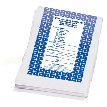 Weston Ground Meat Freezer Bags - 100 count
