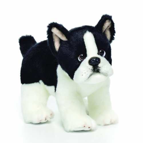 Nat and Jules Boston Terrier Plush Toy, Small Multi-Colored