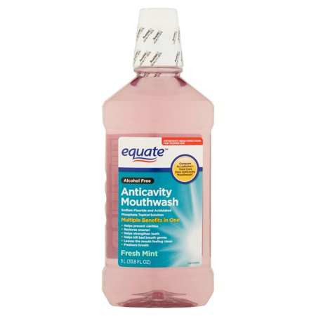(2 pack) Equate Fresh Mint Anticavity Mouthwash, 33.8 Fl Oz