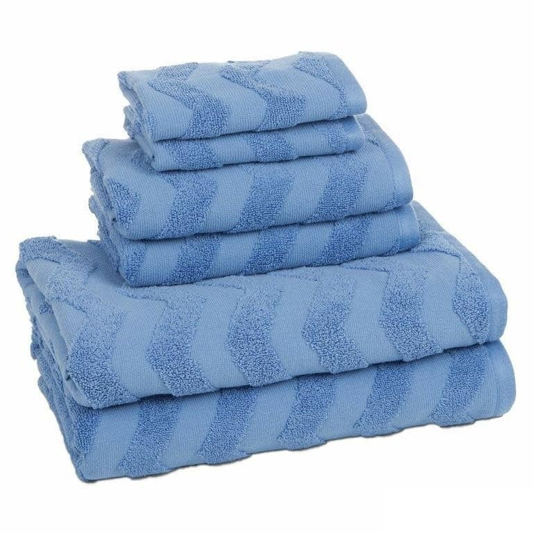 Textured Chevron 6 Piece Texture Towel Set