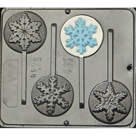 2058 Snowflake Variety Lollipop Chocolate Candy Mold](Snowflake Mold)