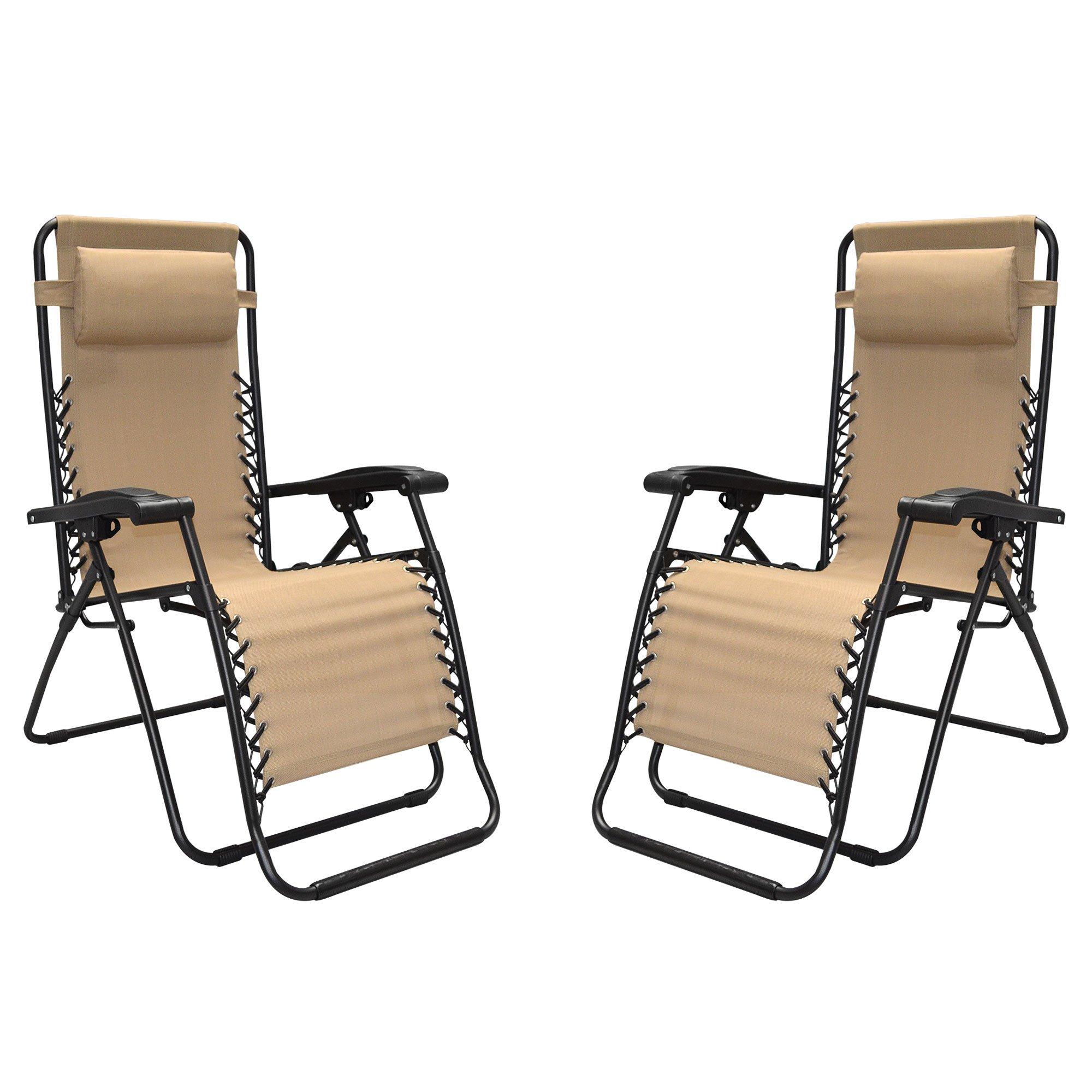 Caravan Sports Infinity Zero Gravity Chair, 2pk, Beige
