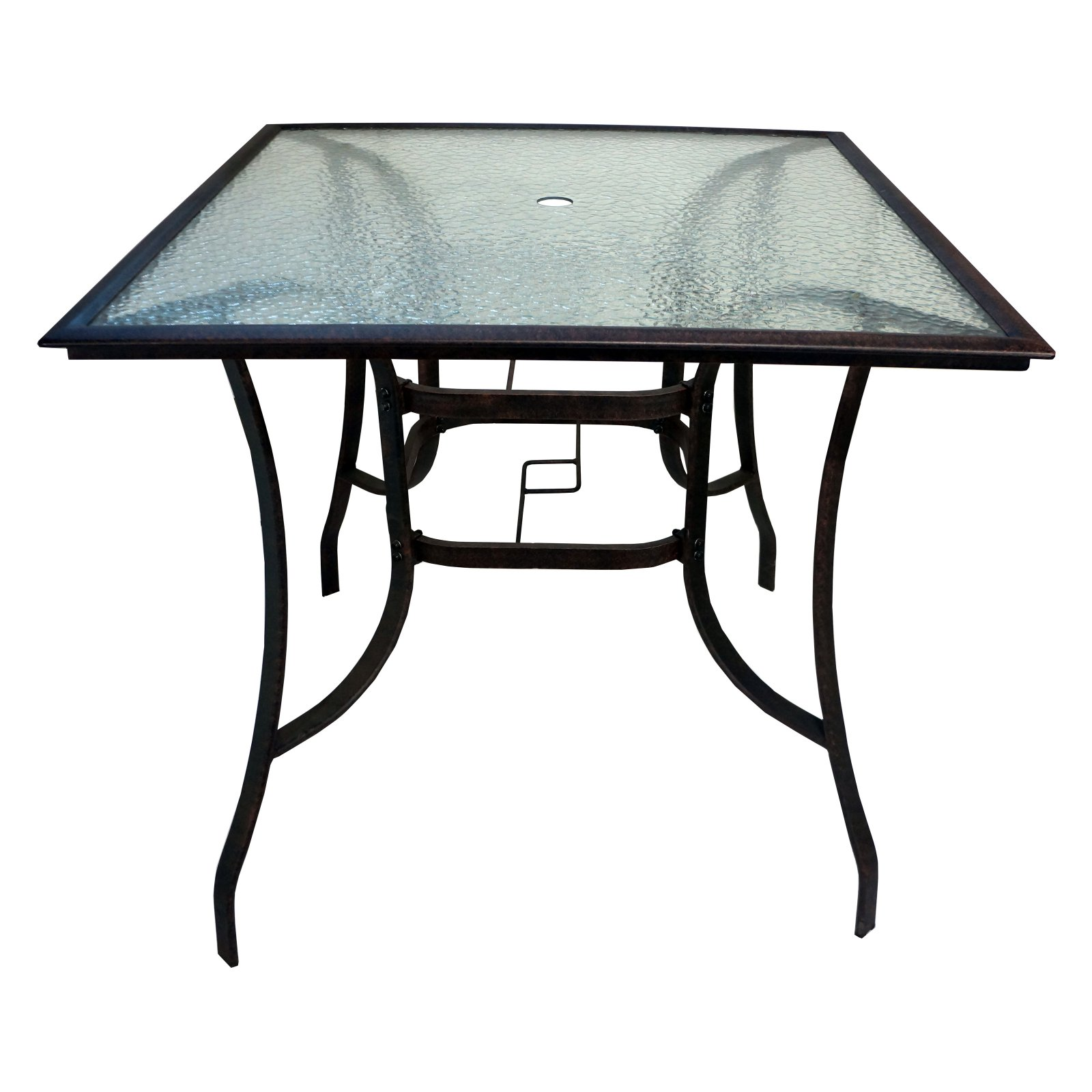 Paradise Cove Designs Orlando Glass Patio Bar Height Table by Overstock