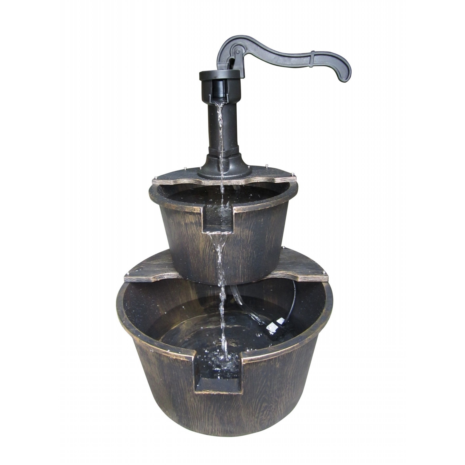 Alpine 2-tier Bronze Pump and Barrel Fountain by Overstock