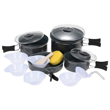 BRS Camping Pot Outdoor Cooking Utensil Pot Sets Cookware Picnic Tableware Bowl Traveling Food (Best Cookware Set For The Money)