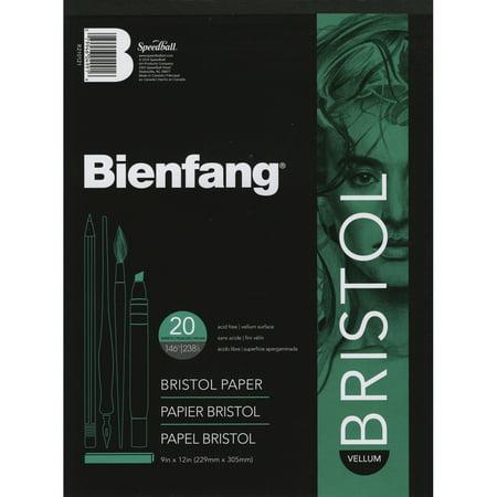 """Bienfang Bristol Board Vellum Paper Pad 9""""X12""""-20 Sheets - image 1 de 1"""