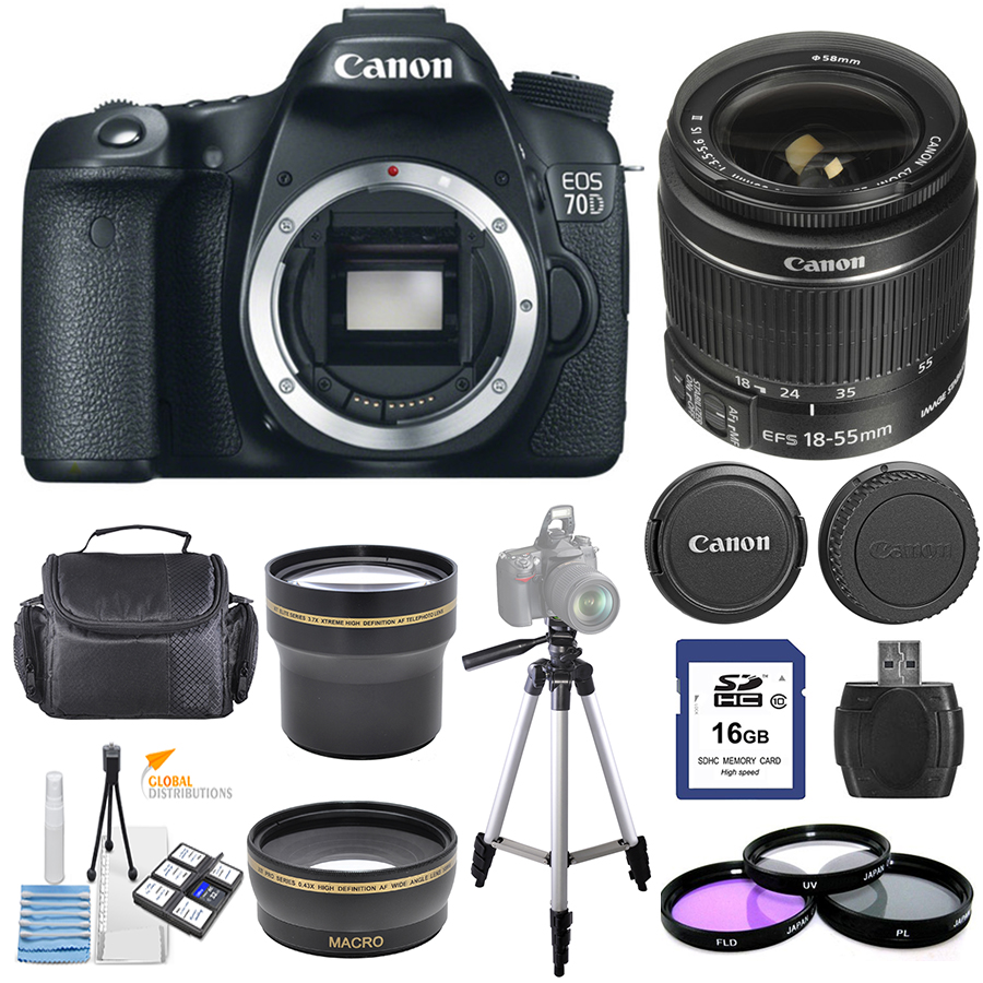 UNASSIGNED Canon EOS 70D DSLR Camera with 18-55mm IS STM ...