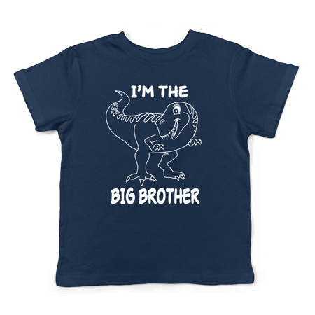 Lil Shirts Big Brother Dinosaur Little Boys Youth and Toddler Shirt~2T / Black