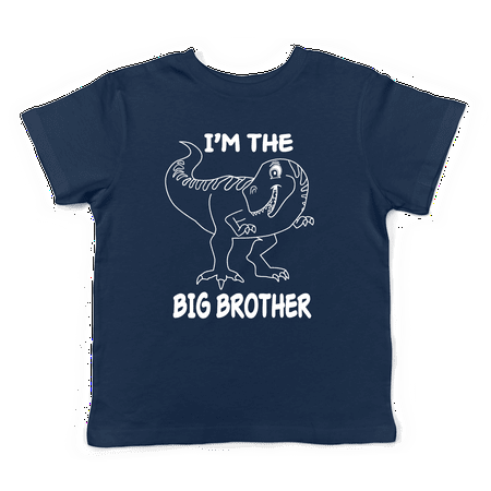 Lil Shirts Big Brother Dinosaur Little Boys Youth and Toddler Shirt~2T / (Best Ever Big Brother)