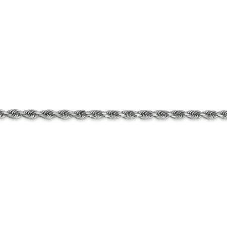 10K White Gold 3.0mm Diamond Cut Quadruple Rope Chain 22 Inch - image 3 of 5