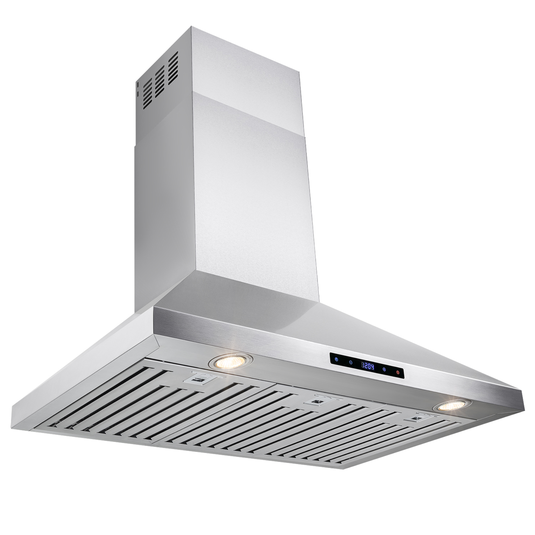 """AKDY 36"""" Stainless Steel Kitchen Wall Mount Kitchen Range Hood with Touch Screen Display"""