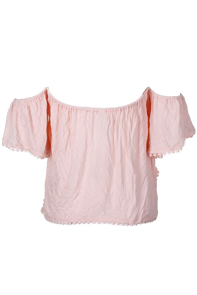 American Rag Juniors Lace Off-The-Shopulder Crop Top