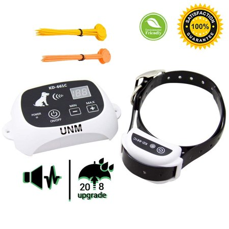 100% Wireless Dog Fence System Outdoor Invisible Pet Containment System Rechargeable Waterproof Collar 550YD Remote Control